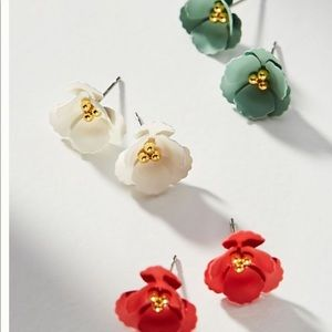 Anthropologie floral post earrings- you choose